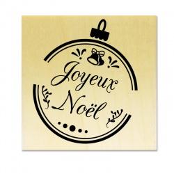 Tampon support bois - Boule Joyeux Noël