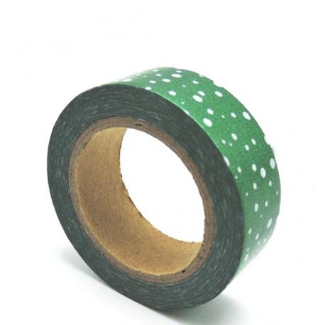 Masking Tape Foil Tape - Pois multiples fond vert sapin