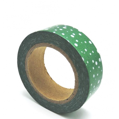 Solo Foil Tape - Multiple dots on pine green