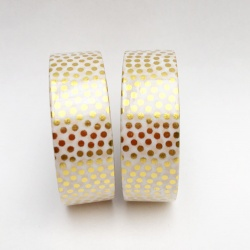 Masking Tape Foil Tape - Pois plumetis or fond blanc