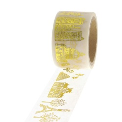 Masking Tape Foil Tape - Paris or sur fond blanc