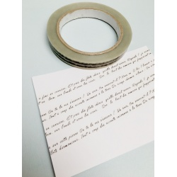 Clear Design Tape - Hand written text in French