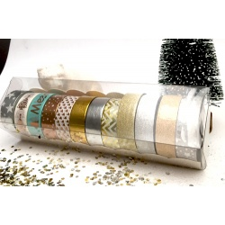 Box of Masking Tape by Lovely Tape - 12 rolls - Foil Tape & Glitter V2