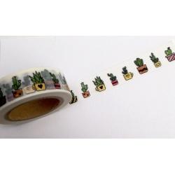 Masking Tape Foil Tape - Cactus colorés et or