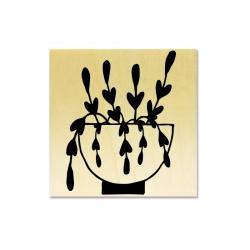 Tampon support bois - Succulente A