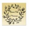 Tampon support bois - Bonne Fête Maman Couronne