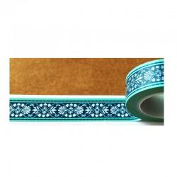 Masking Tape - Frise bleu liseret turquoise