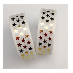 Masking Tape Foil Tape - Etoiles or Brillantes