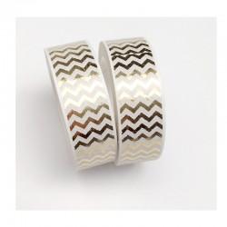 Masking Tape Foil Tape - Chevrons dans la largeur - Or Brillant