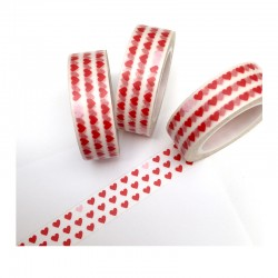 Masking tape - Petits Coeurs Rouges