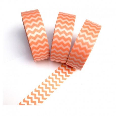 Masking Tape - Petits chevrons abricot