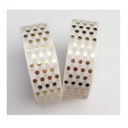 Masking Tape Foil Tape - Pois Or Brillant