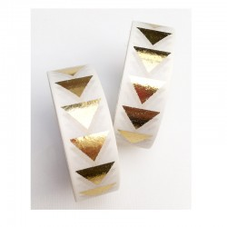 Masking Tape Foil Tape - Triangles dans la longueur Or Brillant