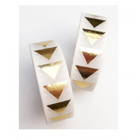 Masking Tape Foil Tape - Triangles dans la longueur Or Brillant