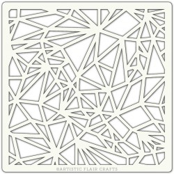 Pochoir 15 x 15 cm - Mosaïque (Polygon)