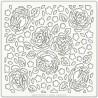 Pochoir 15 x 15 cm - Rose Blossom