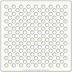 Pochoir 15 x 15 cm - Pois (polka dots)