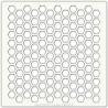 Pochoir 15 x 15 cm - Nid d'abeilles (honeycomb)
