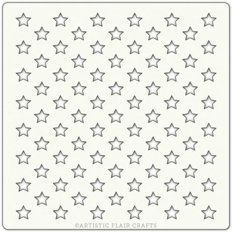 Pochoir 15 x 15 cm - Etoiles (All stars)