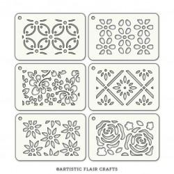 Set de 6 pochoirs - Floral