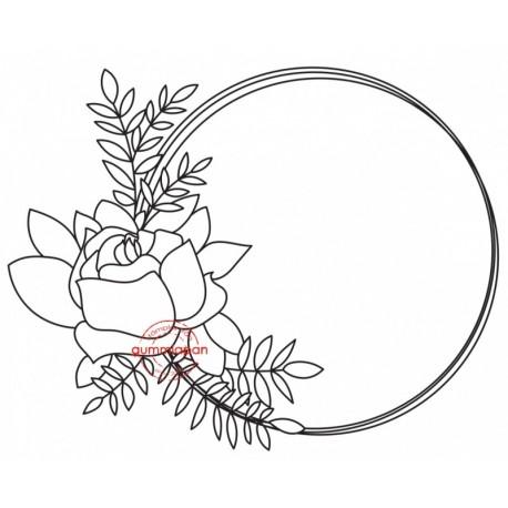 Tampon Gummiapan - Rose Journaling