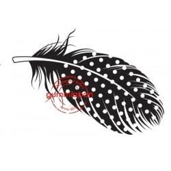 Tampon Gummiapan - Petite plume tachetée