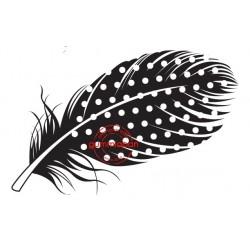 Tampon Gummiapan - Grande plume tachetée