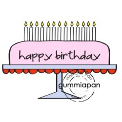 Tampon Gummiapan - Gâteau Happy Birthday