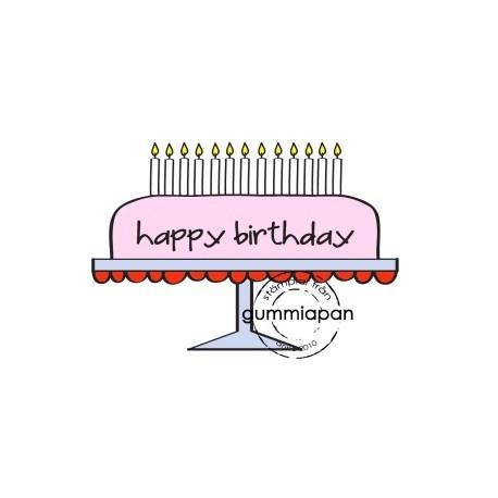 Tampon Gummiapan - Gâteau Happy Birthday