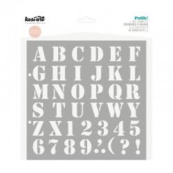 Pochoir Kesi'art Posh - Alphabet Stencil