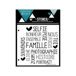 Pochoir Florilèges Design - Selfie Bonheur