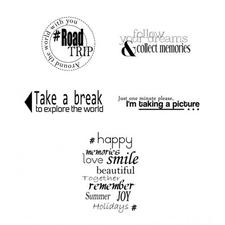 Rubber stamp - Scrapanescence -Complete collection 2 - 5 stamps