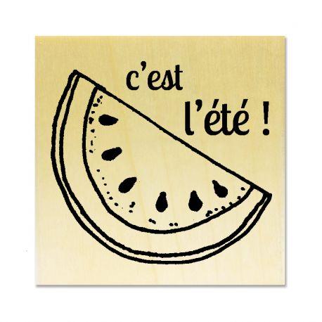 Rubber stamp - watermelon c'est l'été !