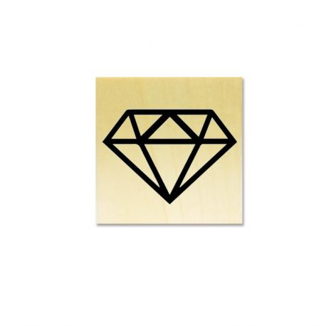 Rubber stamp - diamond origami hollowed