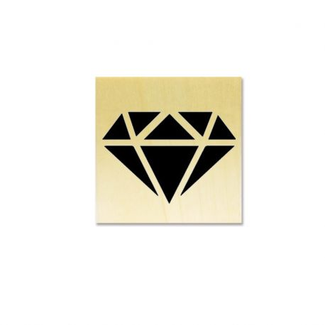 Rubber stamp - diamond origami solid