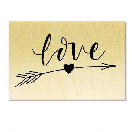 Rubber stamp - Love __ arrow