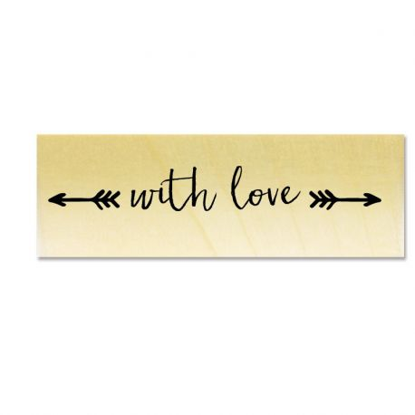 Rubber stamp - with Love __ arrows