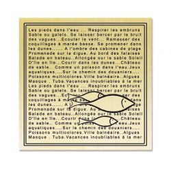 Cadre texte poisson - Scrapanescence - Collection 4