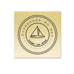 Rubber stamp - Scrapanescence 4 - Sailboat