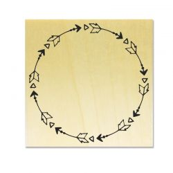 Rubber stamp - Wreath D