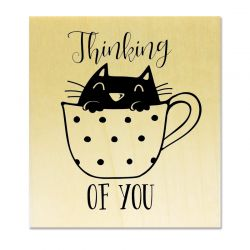 rubber stamp - Cat Thinking of you !