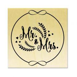 Rubber stamp - Wreath Mr & Mrs