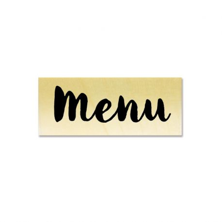Rubber stamp - Menu