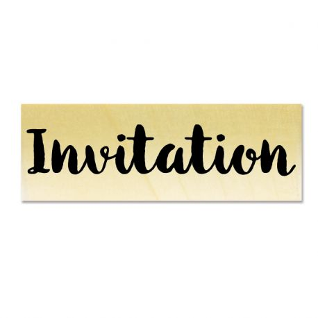 Rubber stamp - Invitation
