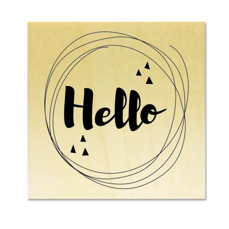 Rubber stamp - Gwen Scrap - hello