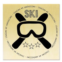 Rubber stamp - Gwen Scrap Collection 6 - Ski mask & medals