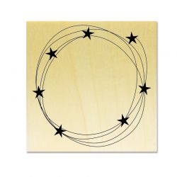 Rubber stamp - Gwen Scrap Collection 3 - stars on circles