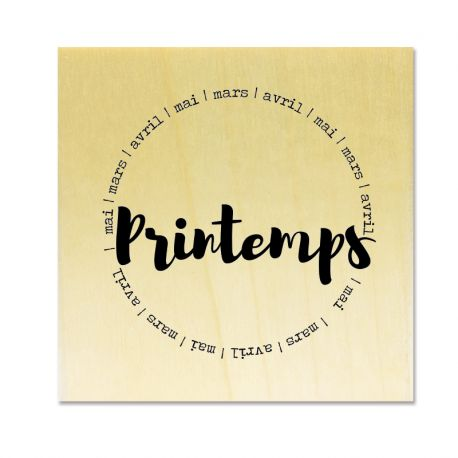Rubber stamp - Gwen Scrap Collection 4 - Printemps - mars - avril - mai (circle)