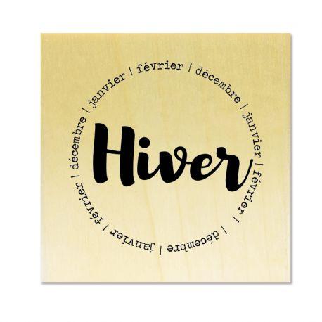 Rubber stamp - Gwen Scrap Collection 4 - Hiver - décembre - janvier - février (circle)