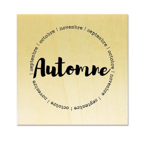 Rubber stamp - Gwen Scrap Collection 4- Automne septembre octobre novembre (circle)